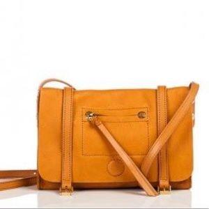 b7561f22ac6 Linea pelle hunter crossbody purse in camel color
